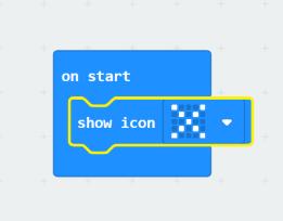 on start show icon X